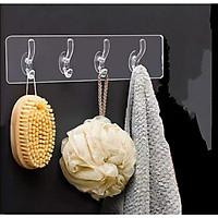 Móc dài Treo Quần Áo, Đa năng dính tường, siêu dính + tặng 4 móc dính tường