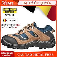 Giày bảo hộ lao động nam Jogger X2020P S3 SRC da bò lộn bền bỉ, thoáng khí, chống nước, đâm xuyên, trơn trượt -