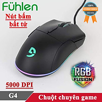 Chuột gaming chơi game có dây Fuhlen G4 5000DPI Led nhiều màu tem Ninza - Hàng chính hãng
