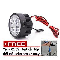 Đèn Led trợ sáng xe máy, xe đạp điện gắn chân gương Loại 6 Led TL 401 (1 đèn) + Tặng kèm đèn led gắn van xe K 131.