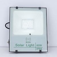 Đèn Pha Led năng lượng mặt trời 60W - CVC - Siêu Sáng - Bật tắt tự động - Pin Dùng Lâu