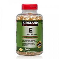 Thực phẩm chức năng Kirkland Signature Vitamin E 400 IU - Chai 500 Viên (Mẫu Mới)
