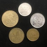Đủ bộ xu Việt Nam huyền thoại gồm 5 mệnh giá 200 đồng, 500 đồng, 1000 đồng, 2000 đồng và 5000 ngàn đồng