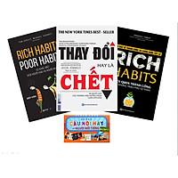 Combo Thay Đổi Thói Quen Trở Nên Giàu Có: Rich Habits, Rich Habits - Poor Habits, Thay Đổi Hay Là Chết (Quà Tặng Thẻ Flashcard Những Câu Nói Hay Của Người Nổi Tiếng)
