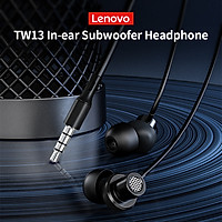 Lenovo TW13 3.5mm Wired Earphone In-ear Subwoofer Headphone Sports Earbud with HD Noise Cancelling Microphone Ergonomic