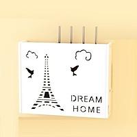 Kệ wifi mini Dream Home treo tường không khoan tặng kèm móc treo cường lực