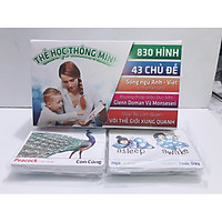 Thẻ Học Thông Minh 43 Chủ Đề 830 Hình 415 thẻ Flashcard Song Ngữ Anh-Việt có phiên âm.