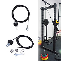 2 Set 5mm 2m Fitness DIY Pulley Cable Rope System for Biceps Back Home Gym