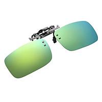 Men Women Polarized Clip-on UV400 Lens Flip-up Myopia Sunglasses Car Driving