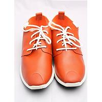 Giày Da Dây Buộc Thời Trang màu cam tặng lót giày