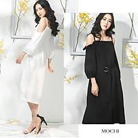 [HÌNH THẬT] Đầm suông hai dây trễ vai dạo phố - Thiết kế công sở bigsize váy đầm nữ đẹp đi biển giá rẻ