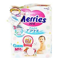 Tã/Bỉm Dán Merries Size M 64 miếng (dành cho bé 6 - 11 kg)