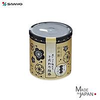Hộp 150 tăm bông ngoáy tai than hoạt tính đầu xoắn Sanyo Swab - Made in Japan