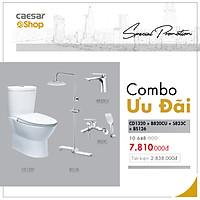 Combo sản phẩm bàn cầu+vòi lavabo+sen tắm+bộ phụ kiện sen tắm đứng - CD1320+B820CU+S823C+BS126