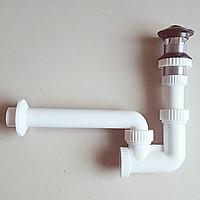 xi phông lật chặn thoát nước chậu rửa mặt lavabo bằng nhựa ABS cao cấp đầu mạ Crom