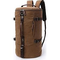 Balo nam thời trang vải canvas BL0012 (nâu) - đi du lịch, đi chơi, đựng hành lý