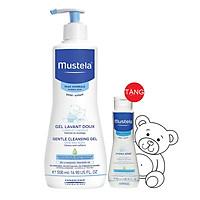 Sữa Tắm Gội Dạng Gel Cho Da Nhạy Cảm Của Bé Gentle Cleansing 500ml  Tặng Kem Dưỡng Da 50ml Mustela