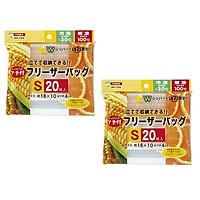 Combo 02 Set túi Zip bảo quản thực phẩm - Nội địa Nhật Bản