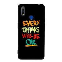 Ốp lưng cứng cho Realme 3 - Viền TPU dẻo - 0198 EVERYTHINGOK - Hàng Chính Hãng
