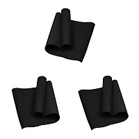 3 Pieces Thick Pilates Yoga Mat Non Slip Floor Exercise Mats for All Ages
