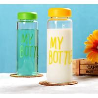 Combo 2 Bình Nhựa Hình Tròn My Bottle 500ml (ko túi)-Giafo Màu nGẫu Nhiên