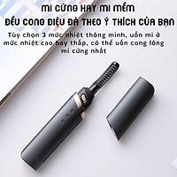 Máy Uốn Lông Mi, Có Tích Điện Cắm Sạc-3 Chế Độ