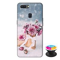 Ốp lưng điện thoại Oppo A5S hình Hoa Tình Yêu tặng kèm giá đỡ điện thoại iCase xinh xắn - Hàng chính hãng