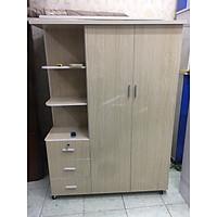 Tủ nhựa Đài Loan 2 cánh kèm kệ trang trí 1m85x1m25