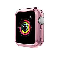 Case ốp bảo vệ silicon dẻo viền màu cho Apple Watch 38mm hiệu HOTCASE (chống va đập trầy xước, chống bụi, bảo vệ viền) - Hàng chính hãng