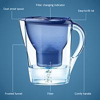 Bình lọc nước 3.5L với chỉ báo điện tử hệ thống lọc 4 giai đoạn giảm clo và kim loại nặng