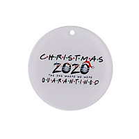Christmas Tree Decoration Pendant with Lanyard 7.2cm/2.8in Christmas Tree Festival Ornaments for Home   2020