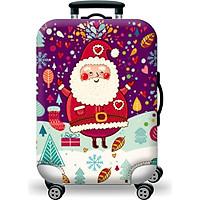 Túi bọc bảo vệ vali -Áo vỏ bọc vali -  Mẫu Ông Già Noel H107