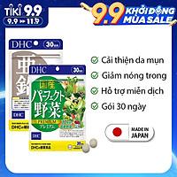 Combo GIẢM MỤN - NÓNG TRONG DHC Nhật Bản viên uống rau củ và viên kẽm 30 ngày JN-DHC-CB3