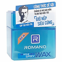 Sáp Tạo Kiểu Tóc Siêu Cứng Bóng Mượt Romano Spiky (68g)