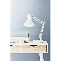 Đèn bàn JYSK Ernst kim loại/ nhựa đen/ trắng DK15xH55cm