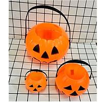 GIỎ bí ngô cho bé chơi Halloween loại dày đẹp