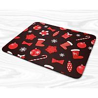 Miếng lót chuột mẫu Giáng sinh họa tiết giày, kẹo, nơ đỏ