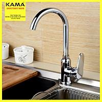 Vòi rửa chén bát CHÍNH HÃNG KAMA SYNLK-02 nóng lạnh đồng mạ crome - Tặng kèm dây cấp nước 60cm, phù hợp với mọi bồn rửa chén bát.