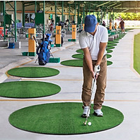Thảm tập swing Golf ECO-360( D150cm): 2 lựa chọn mặt cỏ, Cao cấp, Kích thước lớn, Thiết kế mới.