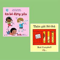 Combo Tranh Sách Song Ngữ Yêu Thích Cho Bé 0-3 Tuổi : Thân Gửi Sở Thú (Tái Bản) + Em Bé Đáng Yêu + Poster ( Song Ngữ Việt Anh Cho Bé 1+)