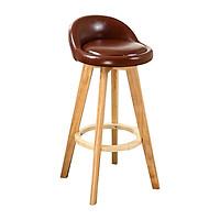 Ghế bar Alta bọc da PU chân sơn nhiệt giả gỗ