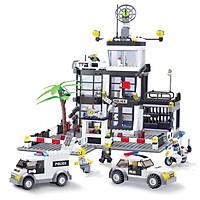 Đồ chơi xếp hình cảnh sát thành phố KAVY với 631 chi tiết cho bé thỏa sức vui chơi tưởng tượng