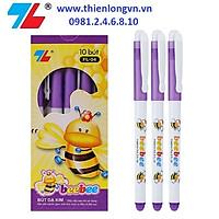 Hộp 10 cây bút lông kim Beebee Thiên Long; FL-04 mực tím