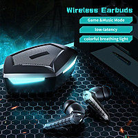 BT Wirelessly Earbuds Game / Music Mode Low Latency Gaming Headphones with Charging Case In-Ear Headset Precise Touch