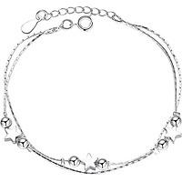 Lắc Tay Tiểu Linh Lan Bạch Kim Showfay Jewelry TB0035 - Bạc
