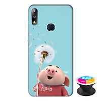 Ốp lưng điện thoại Asus Zenfone Max Pro M2 hình Heo Con và Hoa Bồ Công Anh tặng kèm giá đỡ điện thoại iCase xinh xắn - Hàng chính hãng