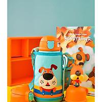 BEDDYBEAR / Bình giữ nhiệt cho bé có túi đeo / dung tích 630ml / inox cao cấp 316 / 3 nắp thay thế / RT104-630