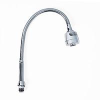 Cần vòi chén lò xo, cong bẻ thay thế cho vòi rửa chén, có đầu chỉnh 2 chế độ nước
