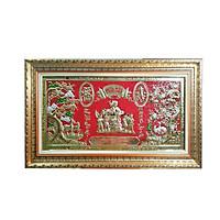 Tranh đồng Mừng Thọ Bà -  (78 x 138 cm)