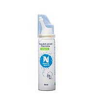 Nước biển xịt mũi Nebusal Spray 0,9%, vệ sinh đường hô hấp, lực xịt dịu nhẹ, phù hợp với trẻ sơ sinh (50ml)